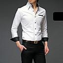 Pánské Jednobarevné Denní nošení Dlouhý rukáv Bavlna Košile