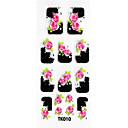3d geprägte Blumen Nail Sticker (3 St.)