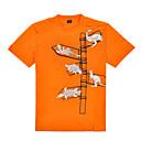 Corsa T-shirt / Top Per uomo Maniche corte Traspirante / Isolato / Resistente ai raggi UV / Permeabile all'umiditàCotone / Tessuto