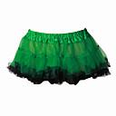 Suknja Sweet Lolita Lolita Cosplay Lolita Haljine Zelen / Bijela Jednobojni Lolita Dužina kratkih hlača Haljina Za Žene Organza