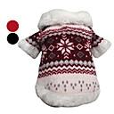 Psi Kaputi Srebrna / Crn Odjeća za psa Zima Snowflake