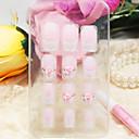 12pcs navlaka ružičaste ruže stil akril nokte i savjete s noktiju ljepilo