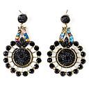 okrugle dijamantne naušnice retro stil za žene (crni)