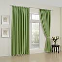 twopages® dva panely klasické pevné zelený pokoj tmavnutí záclony závěsy