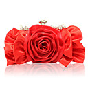 Charming Satin Clutches With Flower(More Colors)