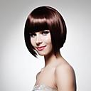 Vlasulja, kratka, kvalitetna od sintetičke dlake, tamno smeđa ravna kosa