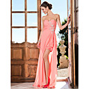 Prom/Formal Evening Dress - Watermelon Plus Sizes Sheath/Column Sweetheart/Strapless Asymmetrical Chiffon