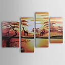Ručně malované Krajina Čtyři panely Plátno Hang-malované olejomalba For Home dekorace