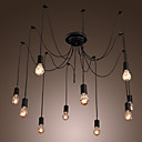 Max 60W Vintage LED Painting Lusteri Living Room / Bedroom / Dining Room / Kitchen / Study Room/Office