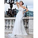Lanting Bride® Kroj uz tijelo Sitna / Veći brojevi Vjenčanica - Šik i moderno Jako kratki šlep Na jedno rame Šifon s