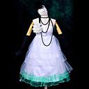 Inspirirana Vocaloid Hatsune Miku Video igra Cosplay Kostimi Cosplay Suits / Dresses Kolaž Bijela Bez rukavaHaljina / Headpiece / Ogrlice
