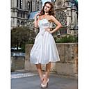 Lanting Bride® A-Linie / Princess Drobná / Nadměrné velikosti Svatební šaty - Elegantní & moderní / Šaty na hostinu Malé bílé Ke kolenům