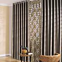 2パネル ウィンドウトリートメント 現代風 ベッドルーム ポリエステル 材料 遮光カーテンドレープ ホームデコレーション For 窓