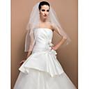 Vjenčani velovi Two-tier Elbow Burke Cut Edge 31,5 u (80cm) Til Slonovača Retka, Ball haljina, princeza, Plašt / stupac, Truba / sirena