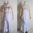 Inspirovaný Sword Art Online Asuna Yuuki Anime Cosplay kostýmy Cosplay šaty Patchwork Biały Bez rukávůVrchní deska / K šatům / Páska na
