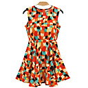 Alan geometrijske ispis klizačica haljina (više boja)