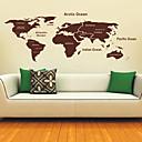 世界ウォールステッカーの地図