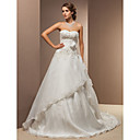 Lanting Bride® A-kroj / Princeza Sitna / Veći brojevi Vjenčanica - Klasično i svevremensko Vintage inspirirano Srednji šlep Srcoliki izrez