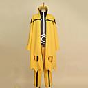 Inspirovaný Naruto Naruto Uzumaki Anime Cosplay kostýmy Cosplay šaty Patchwork Żółty Dlouhé rukávyKabát / Tričko / Kalhoty / Čelenka /