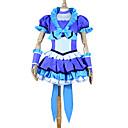Inspirirana PrettyCure Cure pobijediti Anime Cosplay nošnje Cosplay Suits / Dresses Kolaž Plava Kratki rukavTop / Suknja / Headpiece /