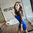 Leisure Times Mesh Sleeve Bodycon Dress