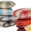 check uzorak ispisa laneni dekorativni pokrov jastuk