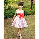 A-Linie / Plesové šaty / Princess Ke kolenům Šaty pro květinovou družičku - Satén / Tyl Bez rukávů Popruhy s