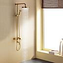 Sprchová baterie - Současné - Včetne sprchové hlavice / Dešťová sprcha - Mosaz (Ti-PVD)