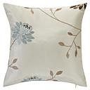 カントリーベージュ刺繍ポリエステル装飾的な枕カバー