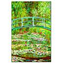 Waterlily Ribnjak s japanskom mosta, 1899 by Claude Monet Poznati Art Print