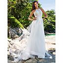 Lanting Bride® A-Linie / Princess Drobná / Nadměrné velikosti Svatební šaty - Elegantní & moderní / Okouzlující & dramatickéExtra dlouhá