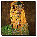 Polibek od Gustava Klimta Slavný Reprodukce na plátně