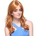 Capless Vysoce kvalitní syntetický dlouhé vlnité blond vlasy Paruky
