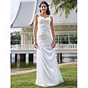 Lanting Bride® Pouzdrové Drobná / Nadměrné velikosti Svatební šaty - Klasické & nadčasové / Elegantní & luxusní Průsvitné Na zem Do V