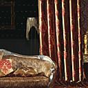 Dva panely Window Léčba Evropský Neoklasika Ložnice Polyester Materiál záclony závěsy Home dekorace For Okno