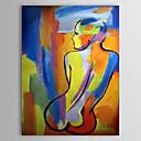 Ručně malované Lidé / Akt Jeden panel Plátno Hang-malované olejomalba For Home dekorace
