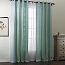 twopages® dva panely moderní pevný polyester bavlna směs opona set