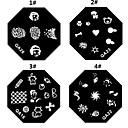1KS Nail Art razítko Lisování obrázku Šablona Plate M Series č.5 (různé barvy)