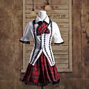 lisnato rukav košulje i kratke crvene suknje check uzorak pamučne škola lolita outfit