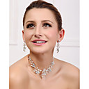 Women's Alloy/Imitation Pearl Jewelry Set Crystal