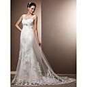 Lanting Bride® Pouzdrové Drobná / Nadměrné velikosti Svatební šaty - Elegantní & moderní / Okouzlující & dramatické RetroVelmi dlouhá