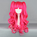 Jagode Fantasy Pink Kovrčava kikice 65cm Punk Lolita Wig