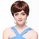 Capless High Quality Synthetic Short Straight Brown Hair Wigs
