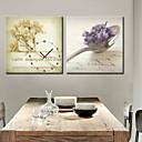 キャンバス2個でモダンなスタイルのスプーンの壁時計