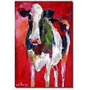 Protezala Canvas Art životinja Krava sam Richard Wallich