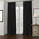 Dva panely Window Léčba Moderní , Jednolitý Obývací pokoj Polyester Materiál Blackout Záclony závěsy Home dekorace For Okno