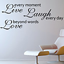 Ljubav Byond riječi Zid naljepnica