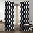 Dvije zavjese Prozor Liječenje Mediterranean , Plaid/Check Living Room Polyester Materijal Zavjese Zavjese Početna Dekoracija For Prozor