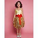 Flower Girl Dress - Baile Coquetel Sem Mangas Cetim/Renda