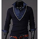 INMUR Muška moda Navy Blue V vrat dva komada kao pletenje Tops